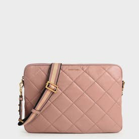 【2021 FALL 新作】キルテッド ラップトップバッグ / Quilted Laptop Bag (Blush)