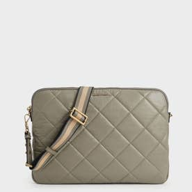 【2021 FALL 新作】キルテッド ラップトップバッグ / Quilted Laptop Bag (Taupe)
