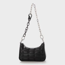【2021 FALL 新作】キルテッドチェーン ショルダーバッグ / Quilted Chain Shoulder Bag (Black)