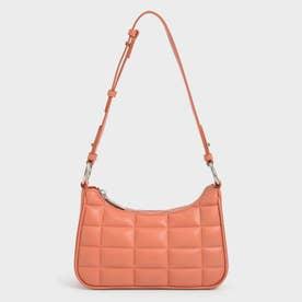 【2021 FALL 新作】キルテッドチェーン ショルダーバッグ / Quilted Chain Shoulder Bag (Orange)
