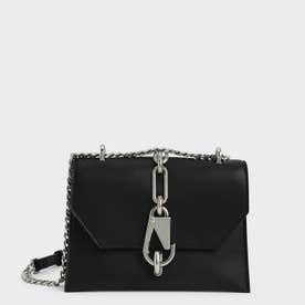 【2021 FALL 新作】メタリックアクセント ターンロッククロスボディバッグ / Metallic Accent Turn-Lock Crossbody Bag (