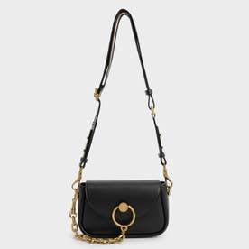 【2021 FALL 新作】チャンキーチェーンリンク クロスボディバッグ / Chunky Chain-Link Crossbody Bag (Black)
