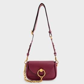 【2021 FALL 新作】チャンキーチェーンリンク クロスボディバッグ / Chunky Chain-Link Crossbody Bag (Burgundy)