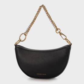 【2021 FALL 新作】カバード クロスボディバッグ / Curved Crossbody Bag (Black)