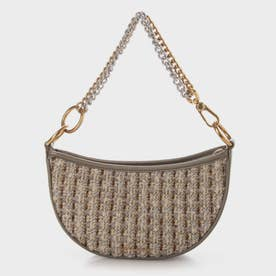 【2021 FALL 新作】カバード クロスボディバッグ / Curved Crossbody Bag (Taupe)