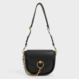 【2021 FALL 新作】チャンキーチェーンリンク サドルバッグ / Chunky Chain-Link Saddle Bag (Black)