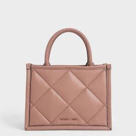 キルテッドダブルハンドル トートバッグ / Quilted Double Handle Tote Bag (Blush)