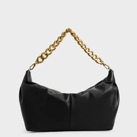 【2021 WINTER 新作】チャンキーチェーン リンクホーボーバッグ / Chunky Chain Link Hobo Bag (Black)