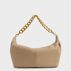 【2021 WINTER 新作】チャンキーチェーン リンクホーボーバッグ / Chunky Chain Link Hobo Bag (Caramel)