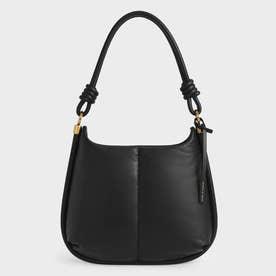 【2021 WINTER 新作】ルナ ノッティドハンドルホーボーバッグ / Luna Knotted Handle Hobo Bag (Black)