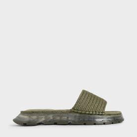 エスパドリーユ フラットフォームサンダル / Espadrille Flatform Sandals (Olive)
