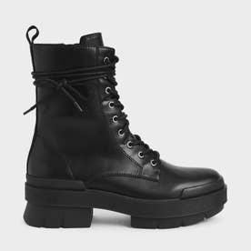 レースアップ アンクルブーツ / Lace-Up Ankle Boots (Black)