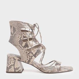 【2021 SUMMER 新作】タイアラウンド カットオブサンダル / Tie-Around Cut-Out Sandals (AnimalPrintNatural)