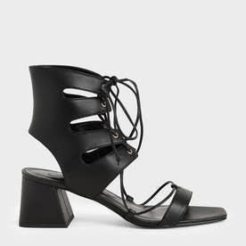 【2021 SUMMER 新作】タイアラウンド カットオブサンダル / Tie-Around Cut-Out Sandals (Black)