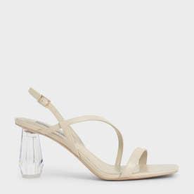 【2021 SUMMER 新作】シースルー スカルプチャーヒールサンダル / See-Through Sculptural Heel Sandals (Chalk)