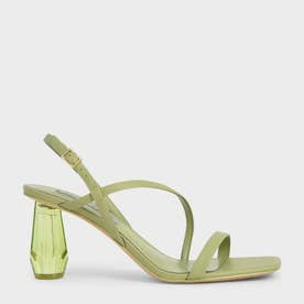 【2021 SUMMER 新作】シースルー スカルプチャーヒールサンダル / See-Through Sculptural Heel Sandals (SageGreen)