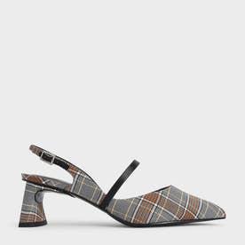 【2021 SUMMER 新作】スカルプチャーヒール スリングバックメリージェーン / Sculptural Heel Slingback Mary Janes (Grey