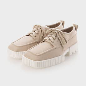 【2021 FALL 新作】リサイクルポリエステル ロートップスニーカー / Recycled Polyester Low-Top Sneakers (Beige)