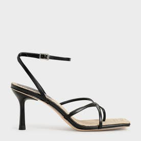 【2021 SUMMER】アンクルストラップ スティレットサンダル / Ankle Strap Stiletto Sandals (Black)