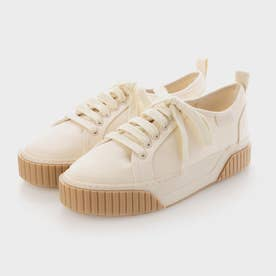 【2021 FALL 新作】リサイクルコットン ロートップスニーカー / Recycled Cotton Low-Top Sneakers (Cream)