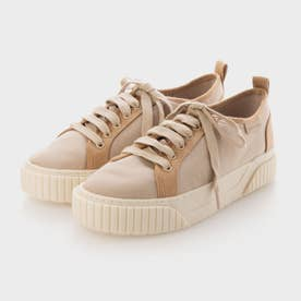 【2021 FALL 新作】リサイクルコットン ロートップスニーカー / Recycled Cotton Low-Top Sneakers (Sand)