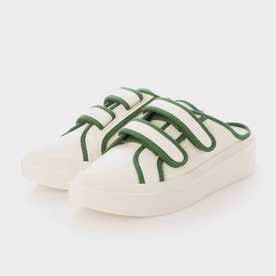 【2021 FALL 新作】ツートーンベルクロスニーカーミュール / Two-Tone Velcro Sneaker Mules (Green)