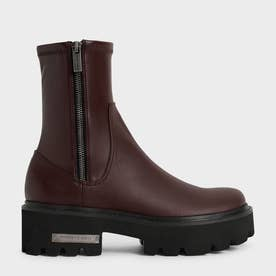 【2021 FALL 新作】サイドジップ アンクルブーツ / Side-Zip Ankle Boots (DarkBrown)