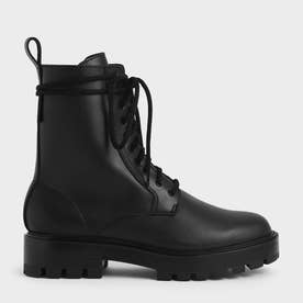 【2021 FALL 新作】レースアップ アンクルブーツ / Lace-Up Ankle Boots (Black)