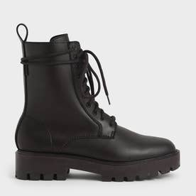 【2021 FALL 新作】レースアップ アンクルブーツ / Lace-Up Ankle Boots (DarkBrown)