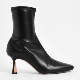 【2021 FALL 新作】スカルプチャーヒール アンクルブーツ / Sculptural Heel Ankle Boots (Black)
