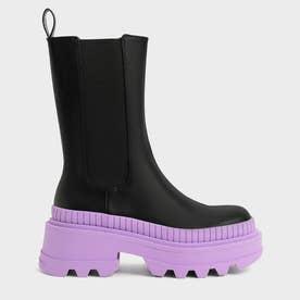 【2021 WINTER 新作】リースカラーソール チェルシーブーツ / Rhys Coloured Sole Chelsea Boots- (Purple)