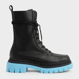 【2021 WINTER 新作】リースカラードソール コンバットブーツ / Rhys Coloured Sole Combat Boots- (Blue)