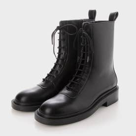 【2021 WINTER 新作】レースアップ カーフブーツ / Lace-Up Calf Boots (Black)