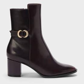 【2021 WINTER 新作】メタリックアクセント カーフブーツ / Metallic Accent Calf Boots (Burgundy)