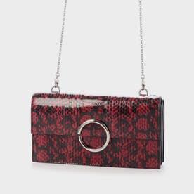 ツートーンリングディティール ロングウォレット / Two-Tone Ring Detail Long Wallet (Berry)