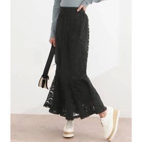 レースマーメイドスカート(ブラック)