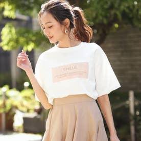 CHILLEメッセージロゴTシャツ(ホワイト)