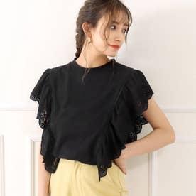 オーバーレースTシャツ(ブラック)