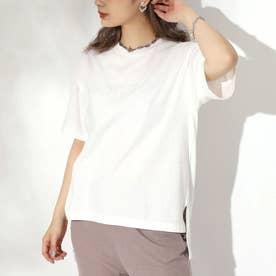 マーブル刺繍ロゴTシャツ(ホワイト)