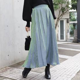 光沢フレアスカート(パープル)