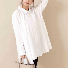 バックプリーツチュニックシャツ(ホワイト)