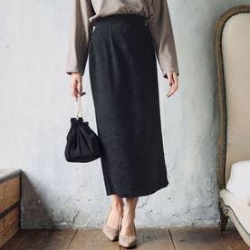 ストレッチジャガードタイトスカート(ブラック)