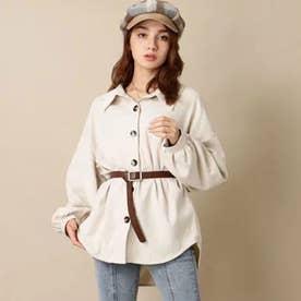コーデュロイシャツジャケット(アイボリー)