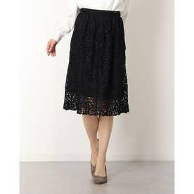 花柄スカート (ブラック)