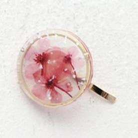 フラワー サークルモチーフ フックポニー (ピンク)