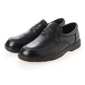 【撥水仕上げ】日常の歩行をより快適に シティゴルフ定番3Eラストシリーズ スリッポンシューズ GF8501 (ブラック)