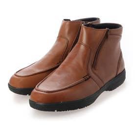 日常の歩行をよりアクティブに サイドファスナー付きブーツ SPGF6504A (ダークブラウン)