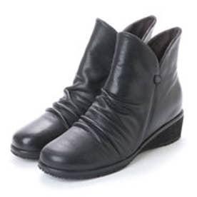 3.5cmウエッジヒールショートブーツ   GFL20045 (ブラック)