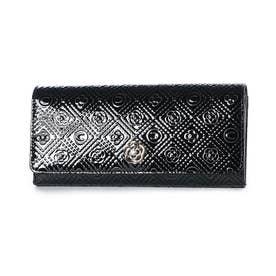 ミモザ フラップ長財布 (ブラック)