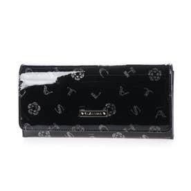 ラミ フラップ長財布 (ブラック)